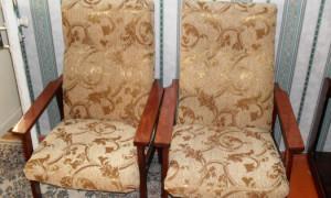 Самостоятельно перетягиваем старое кресло