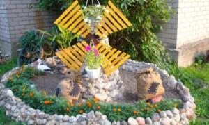Несколько оригинальных способов украшения огорода