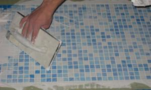 Технология отделки поверхностей мозаичной плиткой