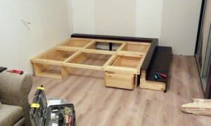 Самостоятельная сборка кровати-подиума