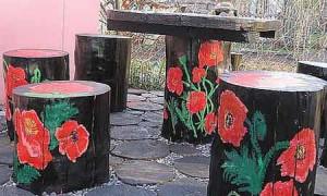 Самостоятельное украшение сада из подручных материалов