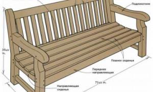 Садовая скамейка со спинкой и подлокотниками своими руками