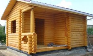 Пошаговая технология строительства бани из бревен