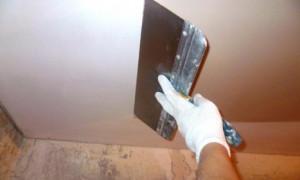 Шпаклюем потолок в квартире своими руками