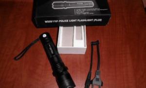 Особенности фонаря — электрошокера 1101 POLICE