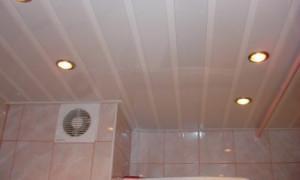 Виды потолочной отделки для ванной комнаты