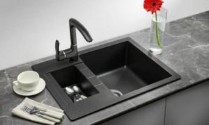 Мойки кухонные из кварцевого камня – особенности и преимущества