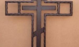 Как выбрать надгробный кованый крест