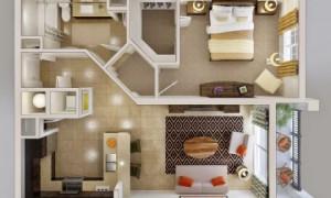 Двухкомнатная квартира – особенности планировки