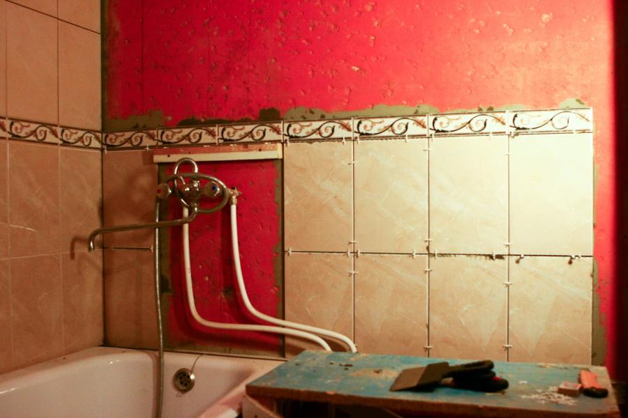 Плитка для ванной комнаты укладка своими руками 15