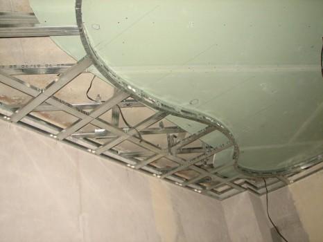 как сделать каркас для подвесного потолка