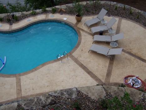 железобетонный бассейн - вид сверху