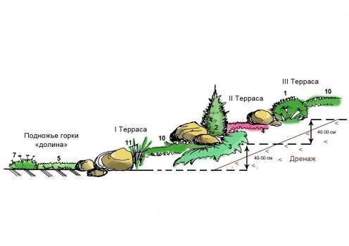 дизайн альпийской горки