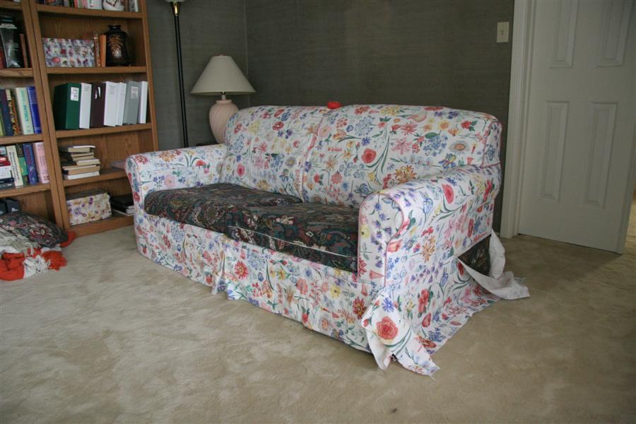 Съемный чехол на угловой диван своими руками 64