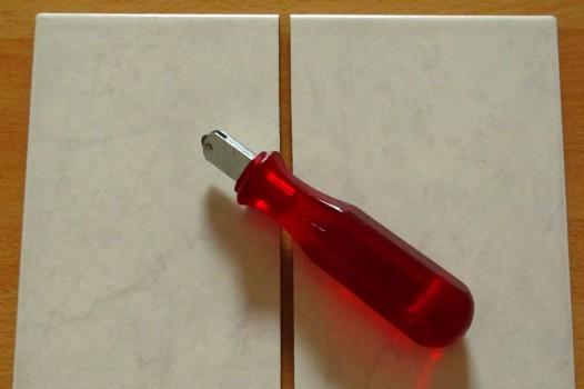 Плитка, разрезанная стеклорезом
