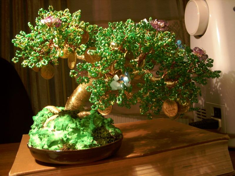 Денежное дерево как сделать дерево из бисера своими руками