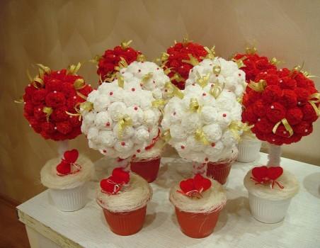 Цветы букет из салфеток своими руками