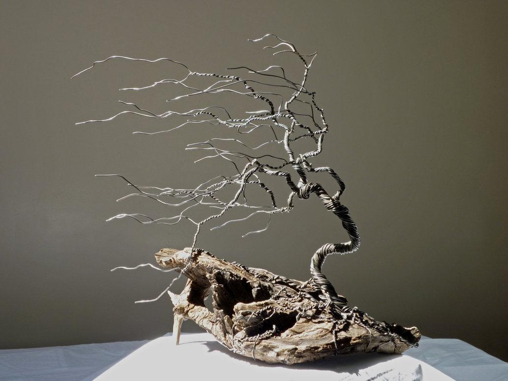 Дерево из проводов своими руками 64