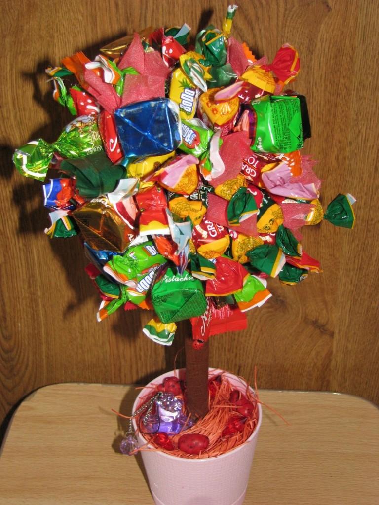 Как сделать конфетное дерево своими руками