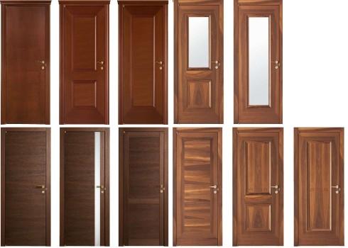 разновидности деревянных дверей
