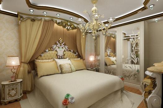 Кровать с изголовьем в стиле барокко