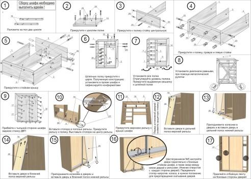 инструкция по сборке простого шкафа-купе