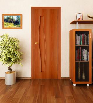 деревянная светлокоричневая дверь