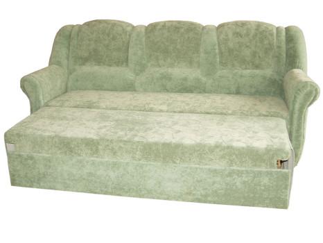 щитовой светлозелёный диван