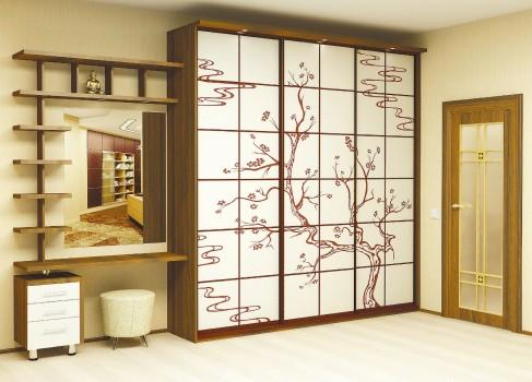 сложный шкаф в японском стиле