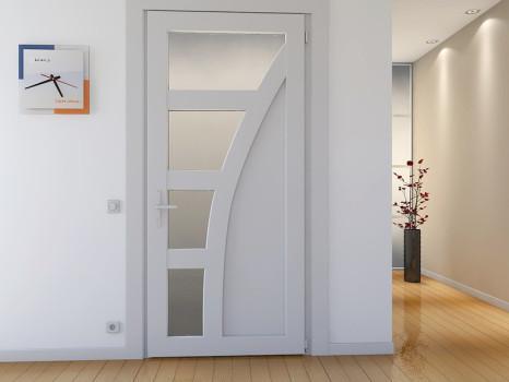 тонированные белые двери