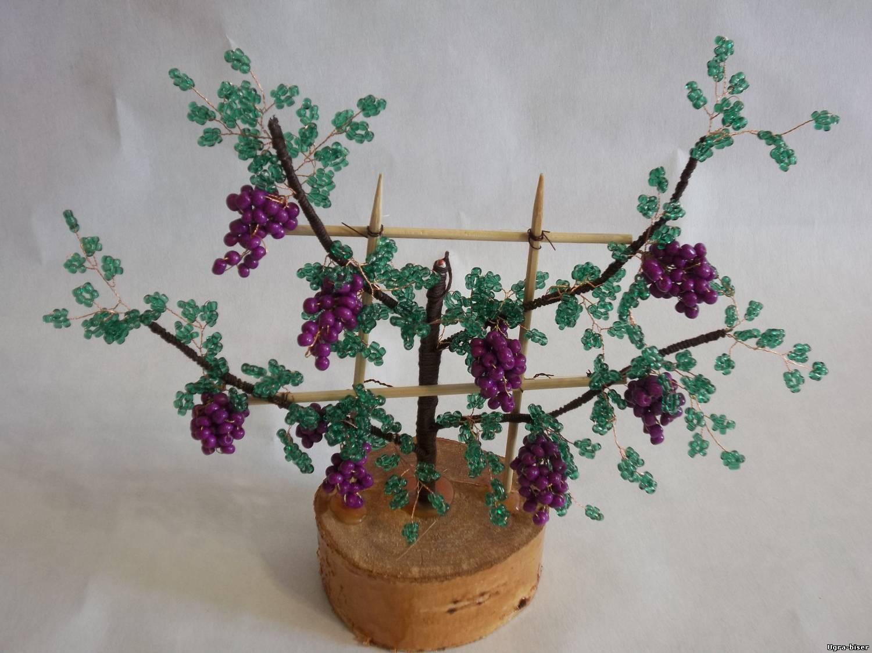 Виноградная лоза из бисера мастер класс с пошаговым фото