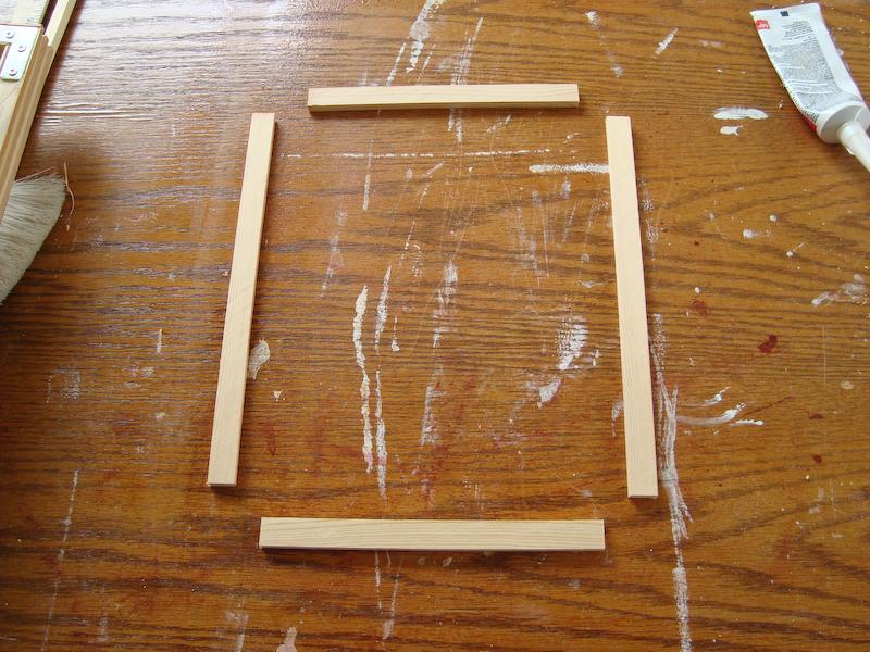 Делаем рамку из дерева для