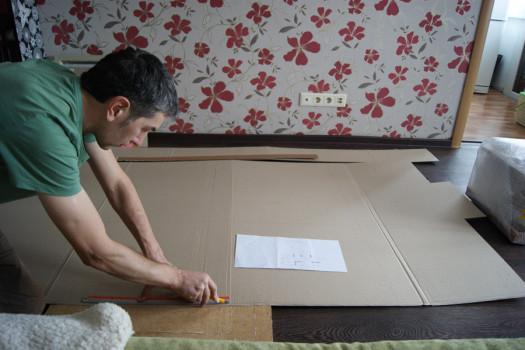Создание выкройки из картона
