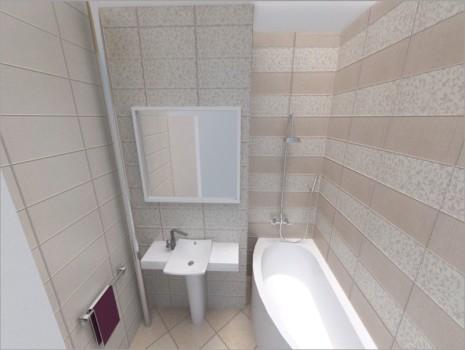 Горизонтальные полосы в ванной