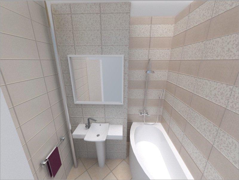Кафель в маленькой ванной фото