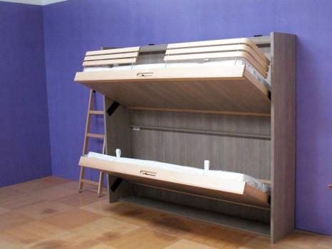 Двухъярусная подъемная кровать