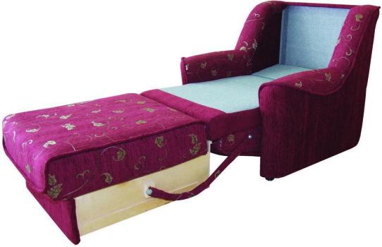 Разложенное кресло-кровать
