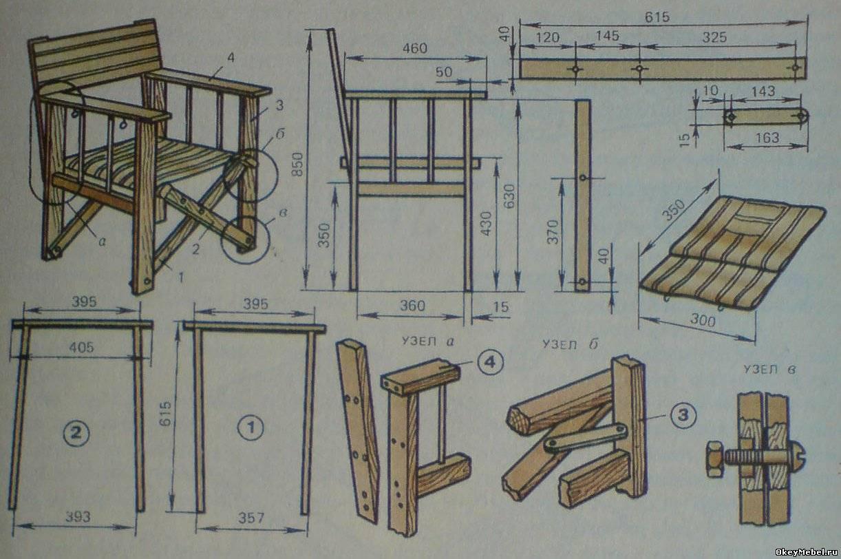 Садовая мебель своими руками фото чертежи