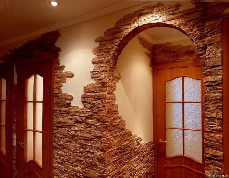 Использование декоративного камня для отделки