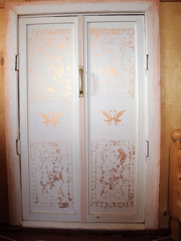 Декорирование старых дверей своими руками видео