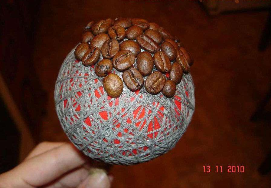Поделки из кофейных зерен мастер класс пошагово