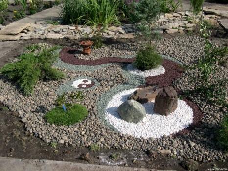 Оригинальный гравийный сад