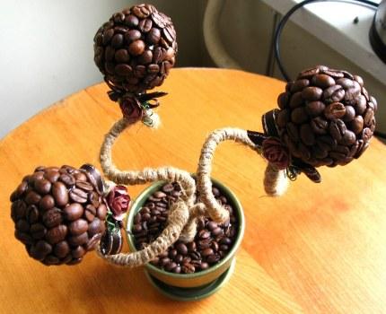 Дерево из кофейных зерен