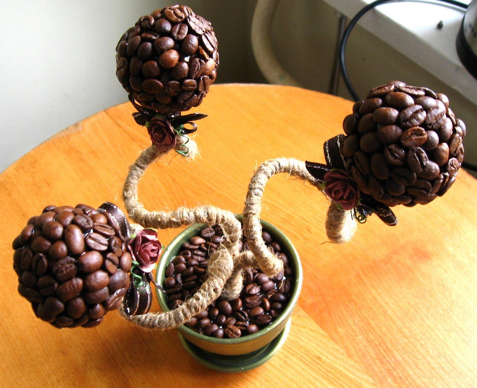 Поделки из кофейных зёрен своими руками дерево 50