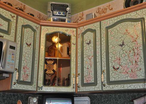 Декупаж дверей кухонного гарнитура