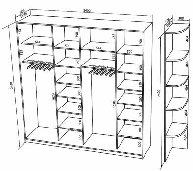 Пример чертежа шкафа