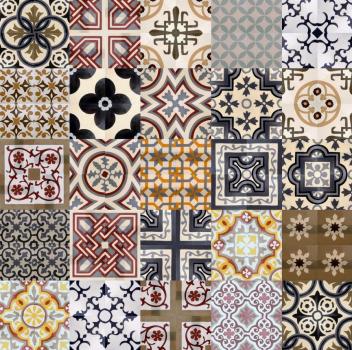 Укладка плитки в виде орнамента