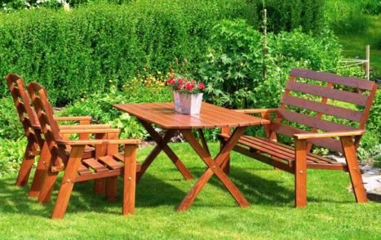 Как своими руками собрать садовую мебель?