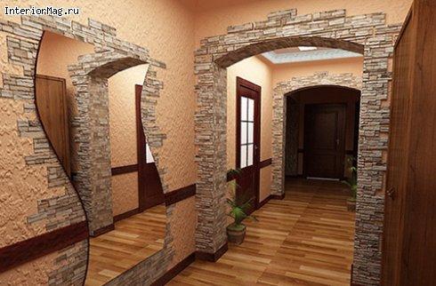Отделка квартиры декоративным камнем