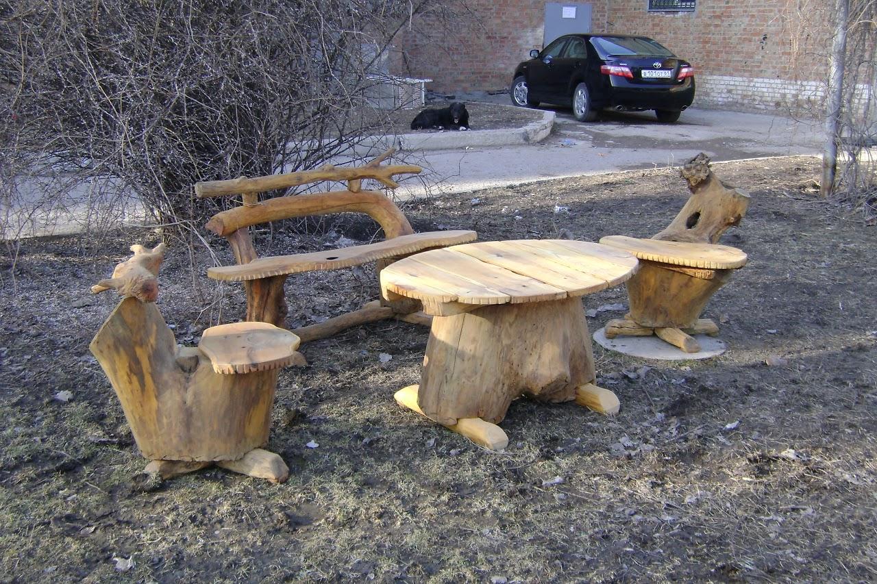 Мебель для сада сделать своими руками